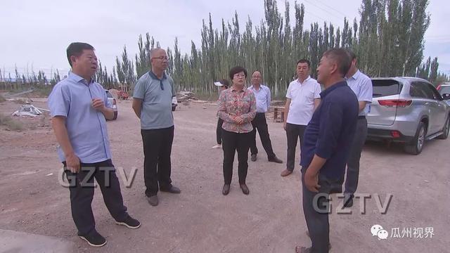 瓜州县委副书记、县长王晋婷调研指导环保问题整改工作