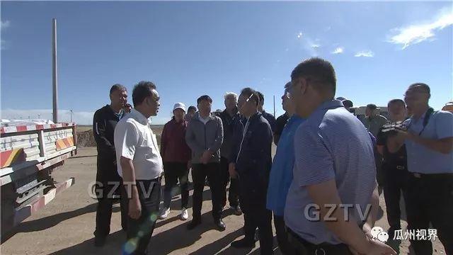 瓜州县委书记宋诚在柳沟工业园区检查指导项目建设工作