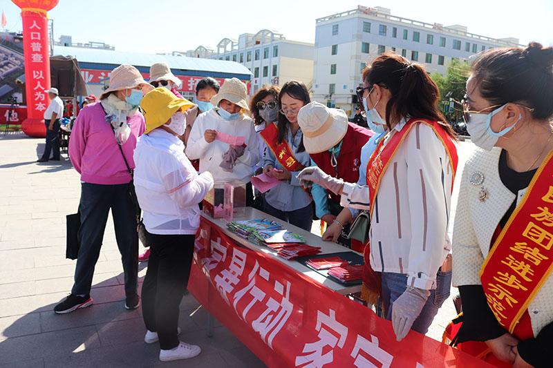 渊泉镇县府街社区开展妇女维权法制宣传活动