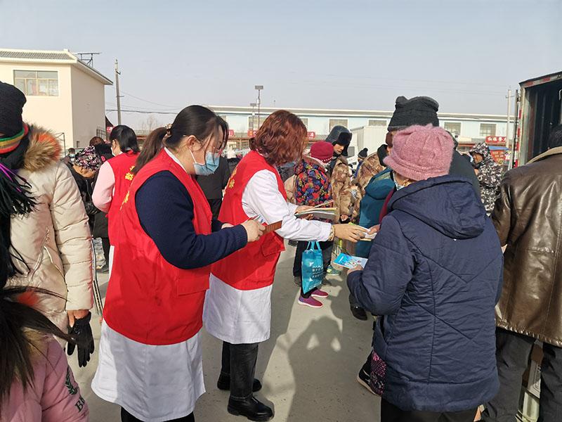 敦煌市转渠口镇中心卫生院 开展疫情防控志愿服务进集市活动