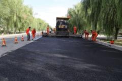 雄关公路管理段顺利实施SMC常温 改性沥青薄层罩面施工